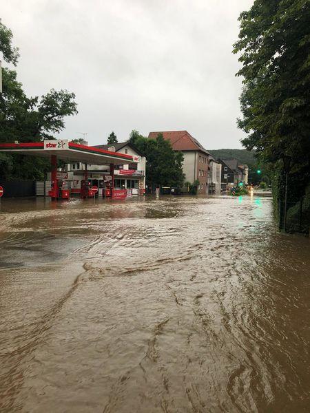 Überschwemmung in Nierenhof im Juli 2021