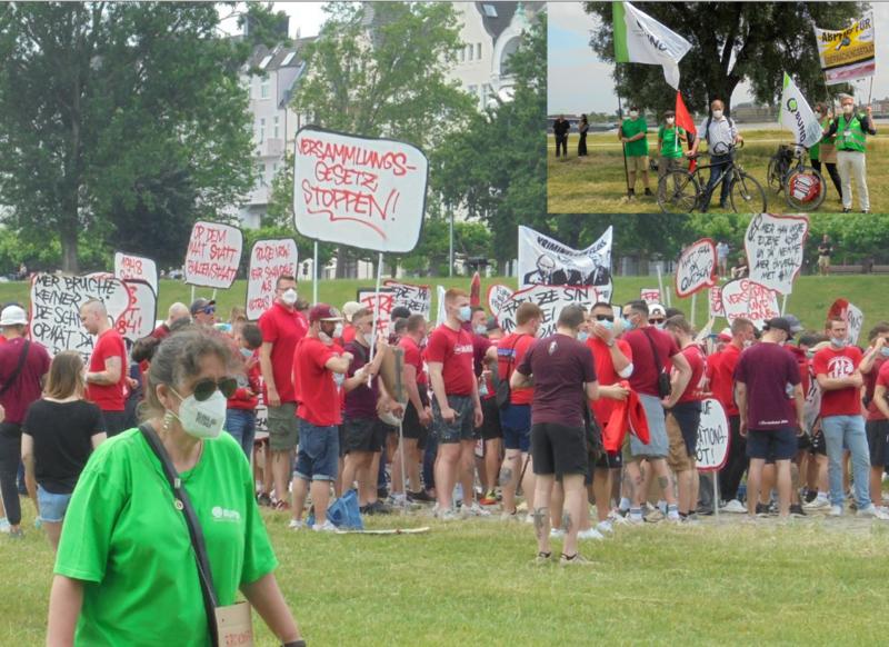 BUND auf der Demo gegen Reuls Versammlungsgesetz - da war alles noch friedlich -oder alles nur Tarnung?